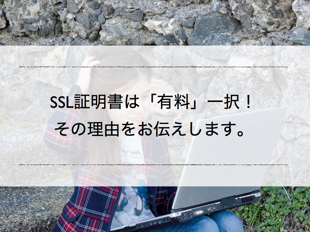 SSL証明書は「有料」一択!理由を伝えします。