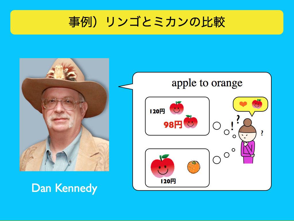 「リンゴとミカンの比較」の事例