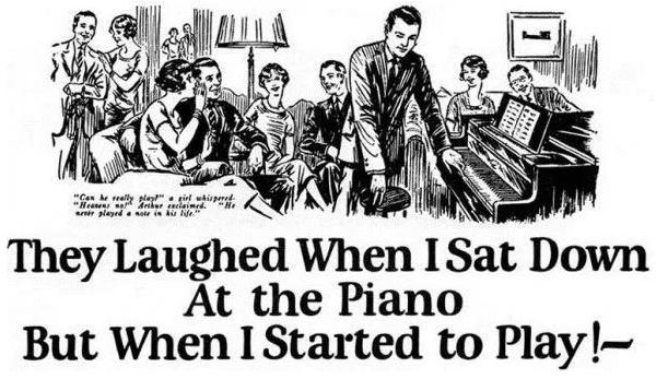 ジョン・ケープルズのピアノコピーも時系列で書かれている